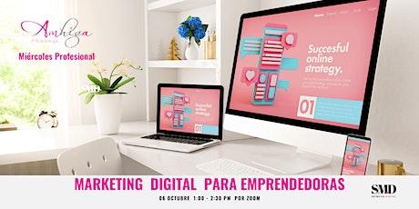 Marketing Digital para Emprendedoras boletos
