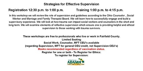 Strategies for Effective Supervision tickets