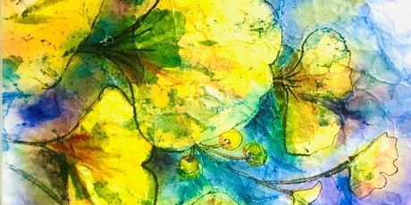 10am-1pm Watercolor Batik Zoom Class with Jean Anderson tickets