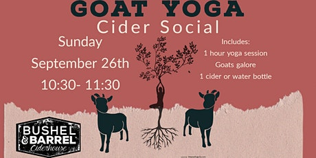 Goat Yoga Cider Social- Sept 26th tickets