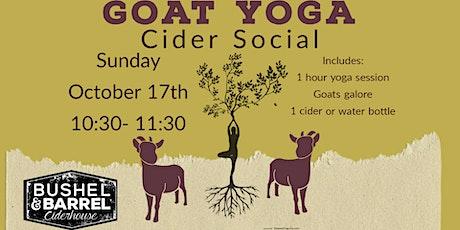 Goat Yoga Cider Social- Oct17th tickets