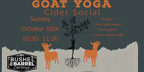 Goat Yoga Cider Social- Oct 10th tickets