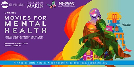 College of Marin presents: Movies for Mental Health (Online) tickets