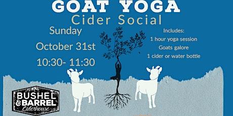 Goat Yoga Cider Social- Oct 31st tickets