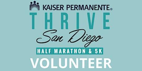 2021 Thrive San Diego Half Marathon - VOLUNTEER tickets