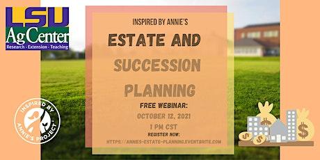 Inspired By Annie's: Estate Planning tickets