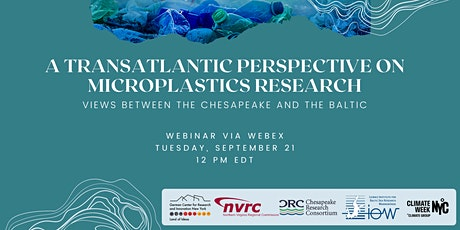 Microplastics Research: Views Between the Chesapeake and the Baltic tickets
