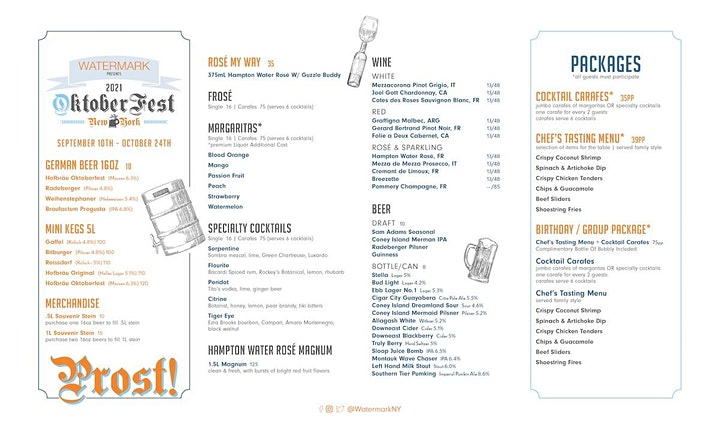 SUNDAYS: OktoberFest NYC 2021 at WATERMARK - Prost! image