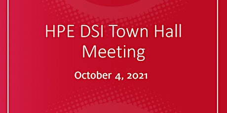 HPE Data Science Institute Town Hall Meeting 2021 tickets