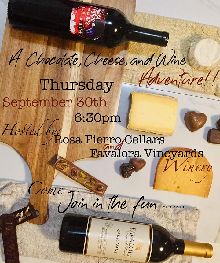 A Chocolate, Cheese, and Wine Adventure at Rosa Fierro Cellars image