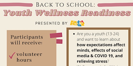 Online Roadshow: Back to School: Youth Wellness Readiness tickets