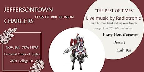 Jeffersontown High School - 1981 Class Reunion tickets