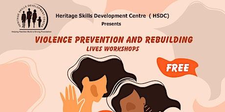 Violence Prevention and Rebuilding Lives Workshop tickets