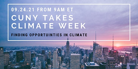 Opportunities in Climate: A Guide for CUNY Students tickets