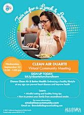 Clean Air Duarte: Lunch & Learn tickets