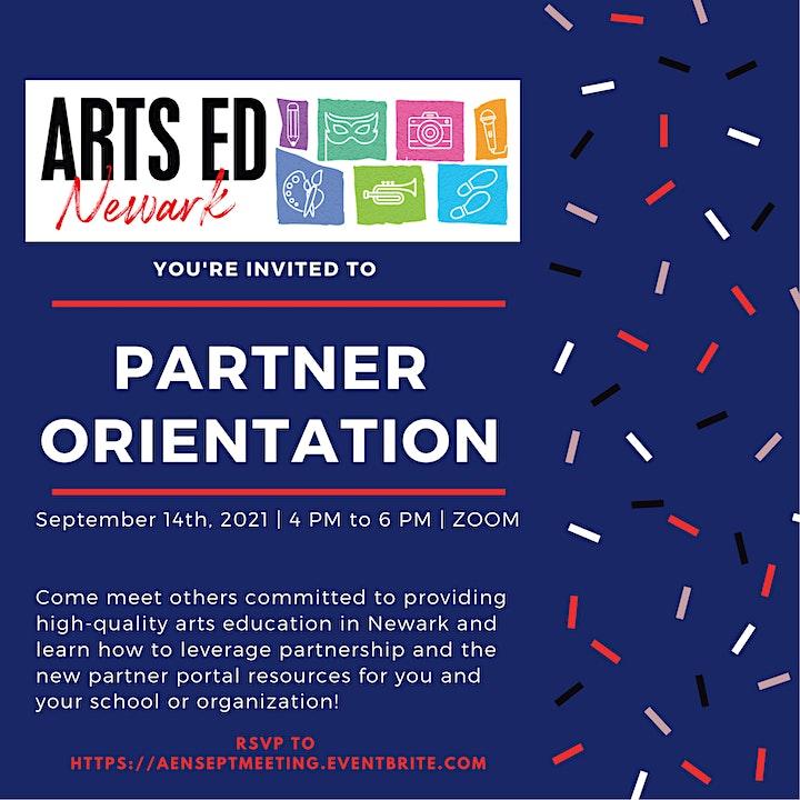 Arts Ed Newark September partner orientation image
