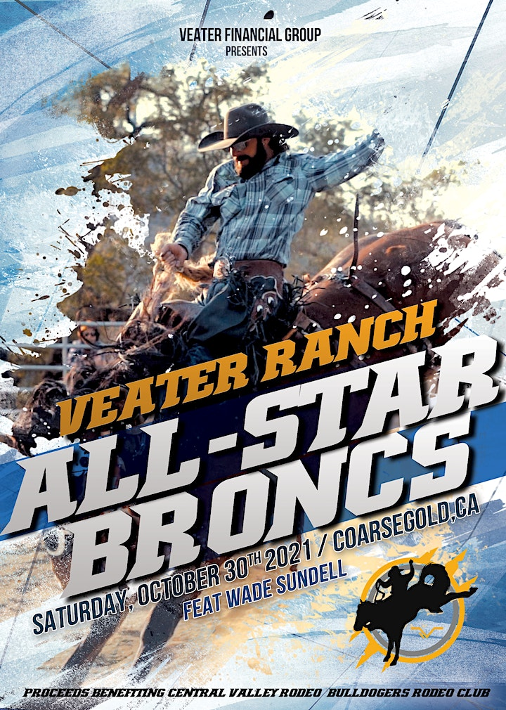 Veater Ranch All Star Bronc Match Fundraiser image