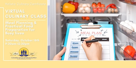Holistic Culinary Certificate- Meal Planning & Practical Food Prep tickets