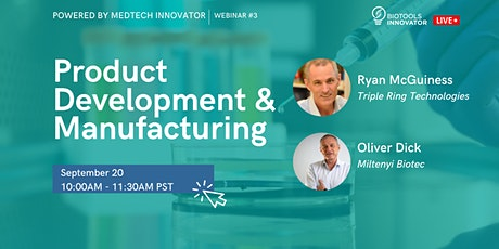 BioTools Innovator LIVE: Product Development and Manufacturing tickets