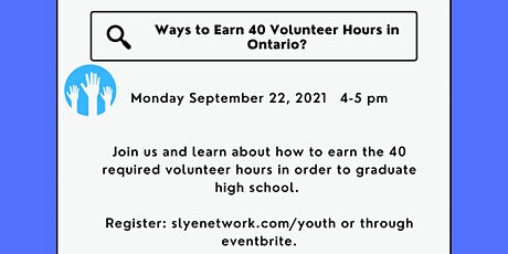 Online Roadshow: Ways to Earn 40 Hours in Ontario tickets