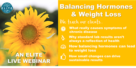 Balancing Hormones and Weight Loss tickets