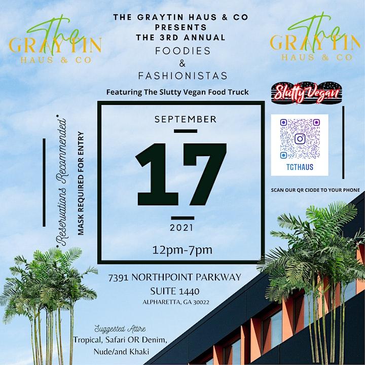 Third Annual Foodies & Fashionistas Fashion Marketplace Ft. Slutty Vegan image