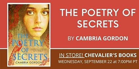Book Talk! Cambria Gordon's THE POETRY OF SECRETS tickets