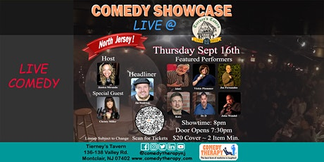 Northern Jersey Comedy Showcase Live @ Tierney's Tavern - Sept 16th, 8pm tickets