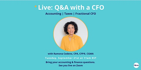 Live Q&A with a CFO: Get answers to your accounting & tax questions tickets