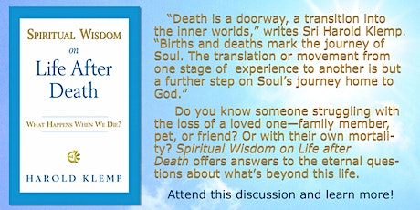 Spiritual Wisdom on Life After Death tickets