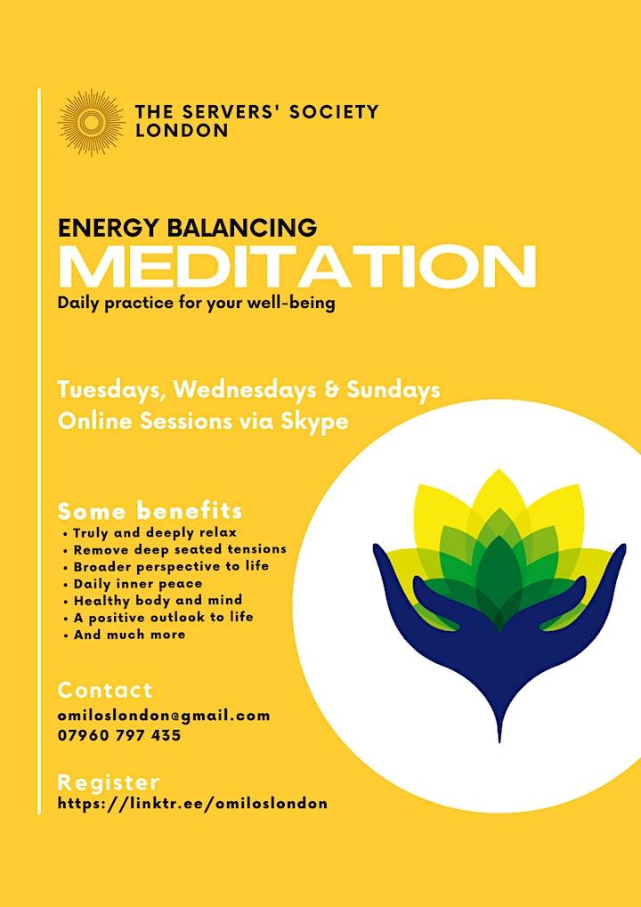 Energy Balancing Meditation Group (Via Skype) image
