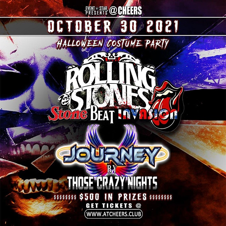 Halloween Costume Party w/ Rolling Stones  & Journey Tribute Bands image