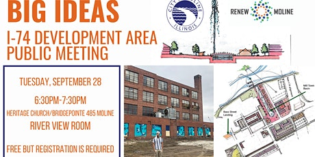 In Person I-74 Development Area Public Input Meeting tickets