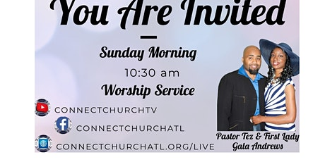 Church at Home with www.connectchurchatl.org/live tickets