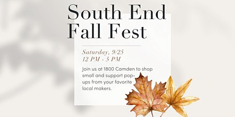 South End Fall Fest tickets