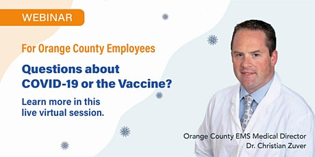 Questions about COVID-19 or the Vaccine? tickets