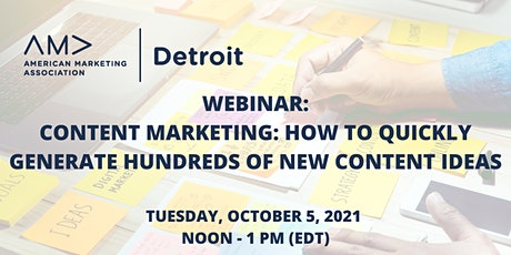 Content Marketing: How to Quickly Generate Hundreds of New Content Ideas tickets
