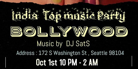 Bollywood India music dance party tickets