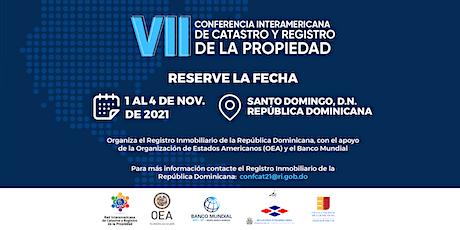 #ConfCat21: VII Inter-American Conference on Cadastre and Property Registry entradas