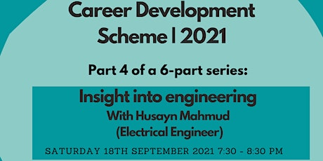 Online Zoom Event |Insight into: Engineering | Sat 18th Sep 7:30-8:30pm tickets
