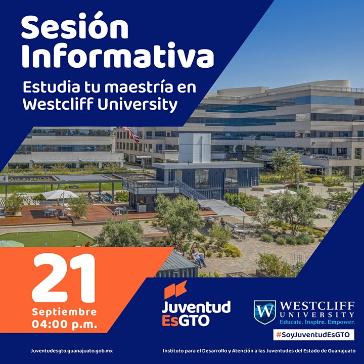 Imagen de Estudia tu maestría con Westcliff  University & JuventudEsGto