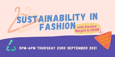 Sustainability in Fashion with R:evolve Recycle & SCCAN: 5PM THUR 23 SEPT tickets