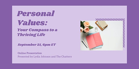 Personal Values: Your Compass to a Thriving Life - ONLINE CLASS tickets
