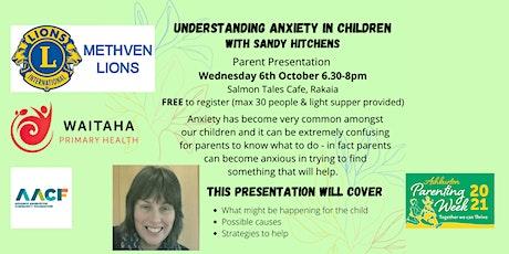 Understanding Anxiety in Children tickets