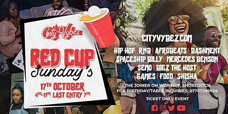 City Vybez Red Cup Sunday's tickets