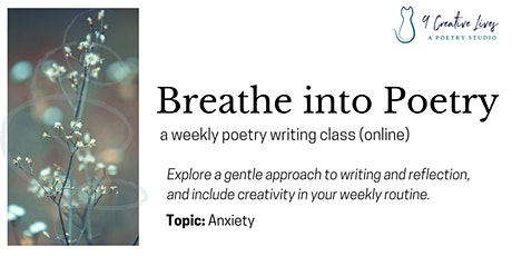 Breathe into Poetry - Drop-in Writing Class tickets