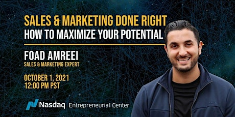 Sales & Marketing Done Right – Maximize Your Potential with Foad Amreei biljetter