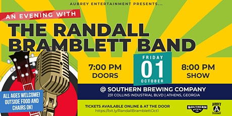 Evening with The Randall Bramblett Band  at Southern Brewing Company tickets