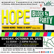 HOPE Block Party: MTC's 96th Anniversary Outdoor Celebration tickets