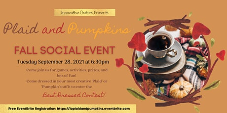 Innovative Orators presents: Plaid and Pumpkins Networking Event tickets